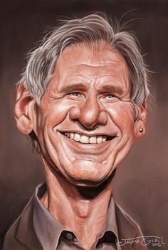20 Funny Caricatures Of Famous Celebrities harrison ford Harrison Ford, Cartoon Faces, Funny Faces, Cartoon Art, Caricature Artist, Caricature Drawing, Funny Caricatures, Celebrity Caricatures, Famous Cartoons