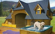 Are you caring for your canines? Looking to pamper your pooch with the fantasy and luxury dog house? Here we have listed the top 10 luxury dog houses you need to see. I Love Dogs, Cute Dogs, Luxury Dog House, Animals And Pets, Cute Animals, Cool Dog Houses, Amazing Dog Houses, Awesome House, Dog Rooms