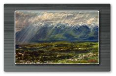 'Rain on the Valley Floor' by James Corwin Painting Print Plaque