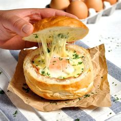 No pans, baking tray or cutting board required to make these! Bread filled with ham, egg and cheese, wrapped in foil and baked. Great for feeding a crowd!