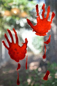 bloody handprint window clings creepy halloween decorationswindow
