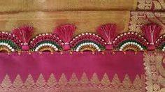 Crochet saree tassel