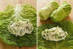 Сыроедческие голубцы с ореховым сыром и зеленью / Вегетарианские и сыроедческие рецепты