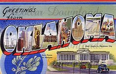Greetings From Oklahoma Vintage Large Letter by DollarDownloads, $1.50