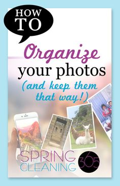 Digital photos can be a major source of clutter! Pictures of kids, family events,