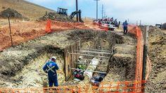 Ruptured oil pipeline