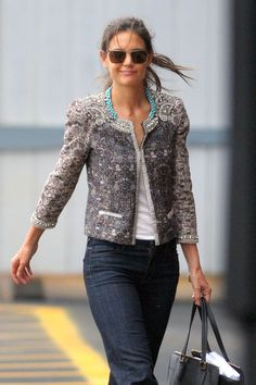 Katie : love the turquoise details on her jacket