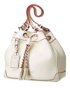leather drawstring bag, dooney and bourke