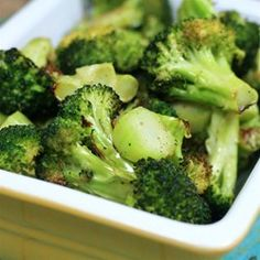 "Easy Roasted Broccoli | ""Roast it until it is browning about the edges. Healthy comfort food."""