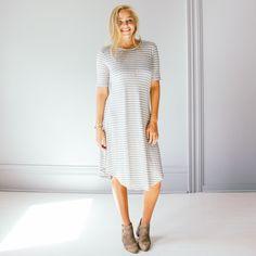 Pacifica Stripe Dress - Grey
