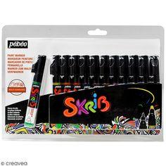 Compra nuestros productos a precios mini Estuche Skrib Rotulador Pintura Acrílica - Clásico - 12 rotuladores - Entrega rápida, gratuita a partir de 89 € !