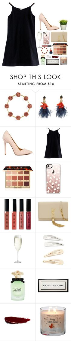 """""""Party for contest"""" by emily-969 ❤ liked on Polyvore featuring Madewell, Lizzie Fortunato, ASOS, American Apparel, tarte, Casetify, Bobbi Brown Cosmetics, Yves Saint Laurent, Crate and Barrel and Kitsch"""