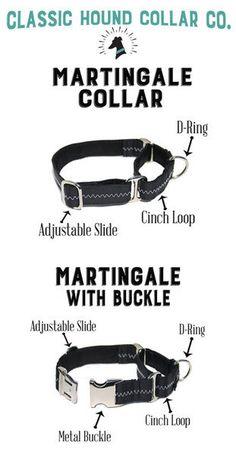 Classic Hound Collar Co. Anatomy of Martingale Dog Collars