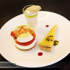 Trio of Desserts at Farnham Castle Trio Of Desserts, Delicious Desserts, Gourmet Recipes, Dessert Recipes, Dessert Shots, Dinner Party Menu, Shot Recipes, Culinary Arts, Christmas Desserts