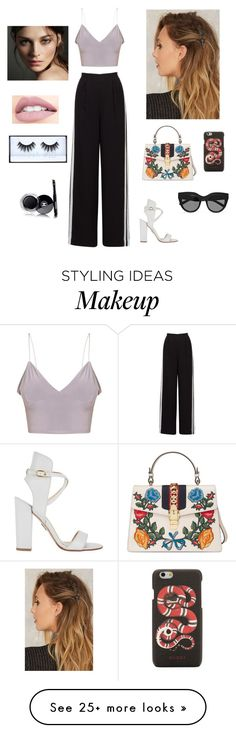"""""""Untitled #137"""" by deea-popoviciu on Polyvore featuring Paul Andrew, Gucci, Le Specs, Jouer, Burberry, Huda Beauty and Chanel"""