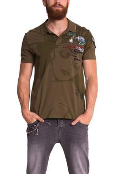 MAN KNITTED POLO T-SHIRT SHORT SLEEVE