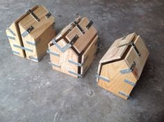 Wooden molds - Sharon Pazner  Wood hardware house sculpture art  שרון פזנר