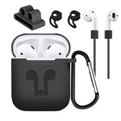 5 Accessories Silicone Case Anti Lost Strap Eartips Carabiner Buckle for Apple AirPods Earphone Sale - Banggood.com