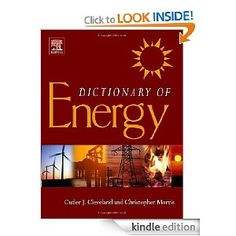 Dictionary of Energy by Elsevier Science