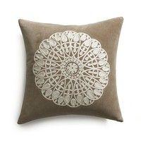 """Lace Snowflake 23"""" Pillow"""