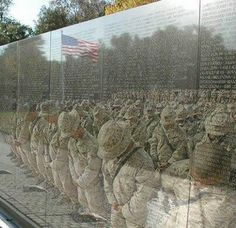 The Wall Reflects The Nation's Servants In War.  The Free Must Pray for the Brave!