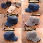 Unisex Women Men Adjustable Army Plain Hat Cadet Military Baseball Hat Sport Cap
