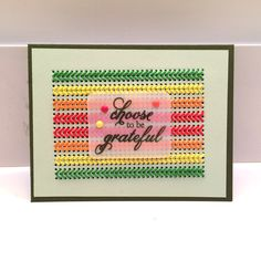 Cross stitch cards with Paper Smooches Cross Stitch die. Thanksgiving Card