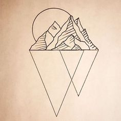 #tattoodesign available #geometrictattoo #mountain tattoo #blaqueowltattoo