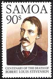 Scottish Author Robert Louis Stevenson Featured on Samoa Postage Stamps Scottish Authors, Science Fiction, Postage Stamp Art, Robert Louis Stevenson, Love Stamps, Mystery, Romance, Stamp Collecting, Book Authors