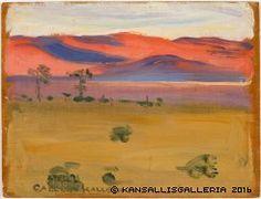 Auringonlasku aavikolla, 1909
