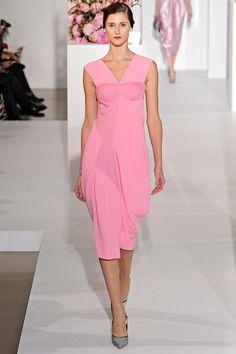 deep pink dress by jil sander fall 2012...