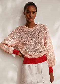 New Woman Spring – Summer 2020 collection Men Sweater, Sweaters For Women, Mango Fashion, New Woman, Cable Knit, Spring Summer Fashion, Latest Trends, Contrast, Cool Outfits