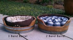 Wine Barrel Pet Bed for your dogs and cats!