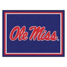 Ncaa University of Mississippi Ole Miss Navy Blue 8 ft. x 10 ft. Indoor Area Rug