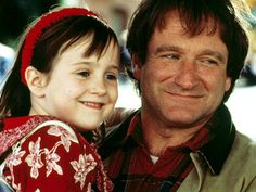 "here is a photo of famed actor Robin Williams as ""Daniel Hillard"" in the family classic movie,  Mrs. Doubtfire."