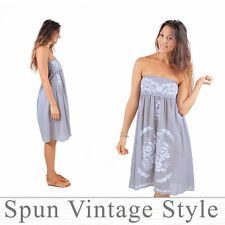 Welcome to Spun vintage style. We have lovingly made, hand embroidered clothes that woman love to wear :) Thank you for shopping by, please take your time and enjoy shopping. Mexican Bridesmaid Dresses, Beach Cocktails, Embroidered Clothes, Strapless Dress, Vintage Fashion, Summer Dresses, Wedding Dresses, Floral, Party
