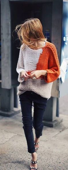 30 Chic Fall Outfit Ideas – Street Style Look. 34 Gorgeous Looks For You This Fall – 30 Chic Fall Outfit Ideas – Street Style Look. Knit Fashion, Look Fashion, Fall Fashion, Runway Fashion, Sweater Fashion, Street Fashion, Fashion Outfits, Fashion Trends, Mode Inspiration