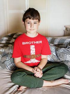 Kids Brother Santa T Shirt Holiday Pajama Shirt Matching Christmas Pajamas Santa Costume Tee Fun Kris Kringle Christmas Eve Shirt
