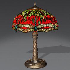 GD16322++Lampada stile Tiffany dragonfly H58 x 42 cm