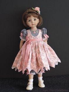 "Pink Black Set Handmade for 13"" Effner Little Darling 14"" Kish BJD by JEC 