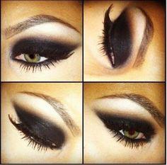 I would use a bold purple instead of black Eye Make-up