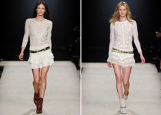 From the Isabel Marant Fall 2012 collection: lacy sheer with a western edge.