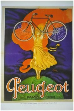 ntique French BIKE, CYCLE advertising poster - 1900s