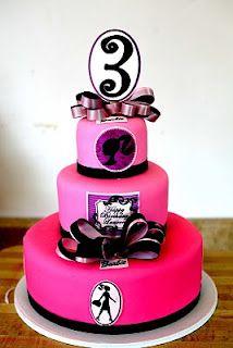 Hector's Custom Cakes: Barbie Cake / Barbie Silhouette Cake that 3 should be a 36 Bolo Barbie, Barbie Cake, Barbie Doll, Barbie Birthday Party, Birthday Cake Girls, Barbie Party, Barbie Theme, 3rd Birthday, Birthday Ideas