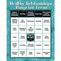 Healthy Relationships Bingo for Teens