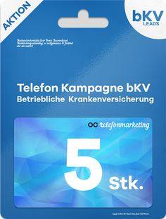 5 (fünf) bKV Leads (betriebliche Krankenversicherung)