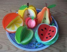 Origami DIY ✰A Fashion Star✰ - fashion origami - hairstyleDIY Paper Crafts For Kids, Preschool Crafts, Diy Paper, Easy Crafts, Diy And Crafts, Arts And Crafts, Vegetable Crafts, Paper Fruit, Fruit Crafts