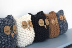 Parliament of hand knitted Owls.