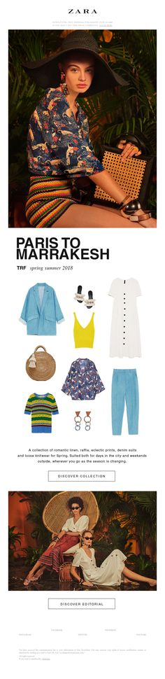 From Paris to Marrakesh Mixed Prints, Marrakesh, Zara, Spring Summer, Marketing, Texture, Poster, Collection, Fashion