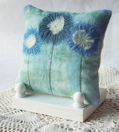 Painted Canvas Picture Pillow